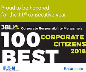 Eaton makes Best Corporate Citizens list for 11th year