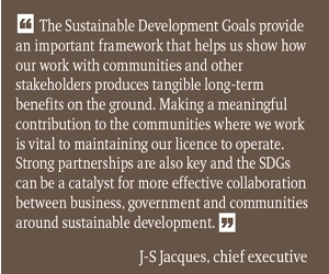 Rio Tinto supports Sustainable Development Goals