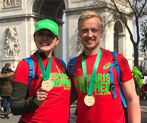Inspired employees ran the great Schneider Electric Paris Marathon
