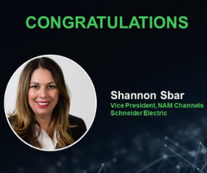 Schneider Electric VP Shannon Sbar named Channel leader