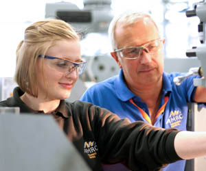 Female apprentices at University of Sheffield AMRC