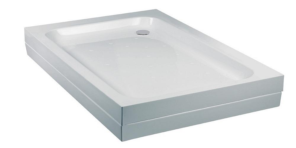 Merlin FT 1200mm x 800mm Rectangle Shower Tray White