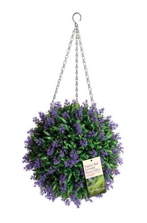 Gardman Topiary Ball Lavender Flower Effect 02955