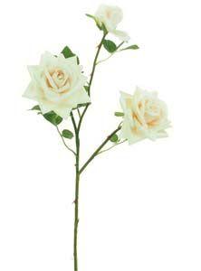 Lotus Supreme Silk Medium Open Rose Spray Ivory 101230