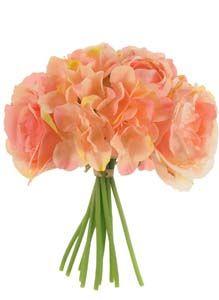 Lotus Silk Hand Tie Rose Hydrangea  Peony Coral 304086