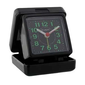 WIDDOP Quartz Travel Alarm - Black case/dial  5165B