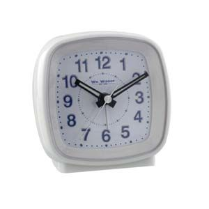 WIDDOP Cushion Shape Alarm Clock Sweep/Cres White  5205W