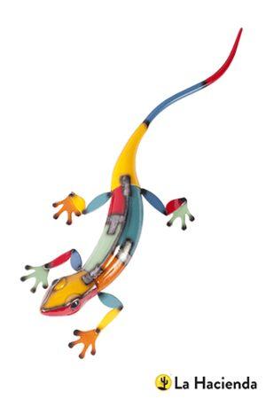 Multicoloured Metal Long Lizard