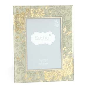 """WIDDOP Sophia Gold Rose Collection Photo Frame 5"""" x 7""""  647F57"""