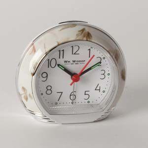 WIDDOP Alarm Clock - Pink Flower Design   L/S/C  9501PF