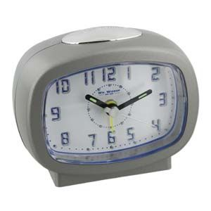 WIDDOP Qtz Beep Alarm LED Dial/Snooze Silver  9765S