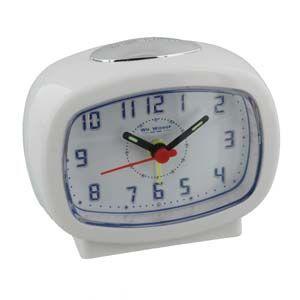 WIDDOP Qtz Beep Alarm LED Dial/Snooze White  9765W