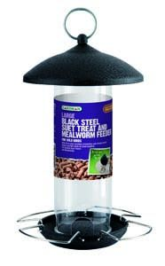 Gardman Large Black Steel Suet & Mealworm Feeder - 01526