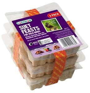 Gardman Suet Feast Triple Pack - 04111