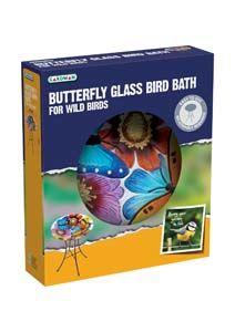 Gardman Glass Bath Butterfly A04375