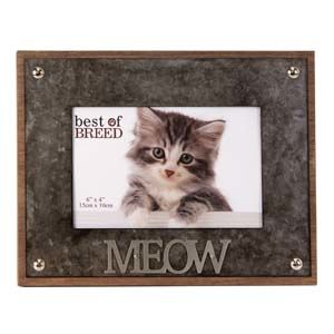 """WIDDOP Photo Frame Metal Lettering MEOW 6"""" x 4""""  BB236"""