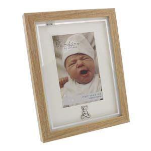 "WIDDOP Bambino Photo Frame Wood effect Teddy Icon 4"" x 6""  CG121946"