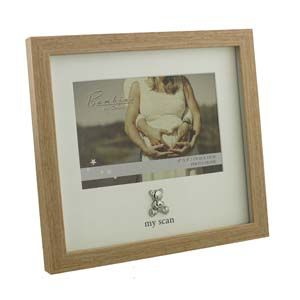 "WIDDOP Bambino Wood Effect Frame Teddy Icon ""My Scan""  CG1222"