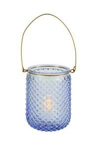Premier Blue Glass Candle Holder CH182012B