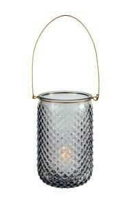 Premier Grey Glass Candle Holder CH182013GY