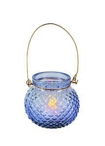 Premier Blue Glass Candle Holder CH182014B