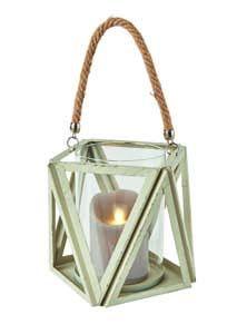 Premier White Wash Lantern CH184002
