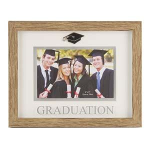 "WIDDOP Juliana Natural Wood Effect Plastic Frame - 6""x4"" Graduation  FP145GR"
