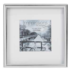 "WIDDOP Impressions Silver Plated Matt Silver Photo Frame 4"" x 4""  FS103944"