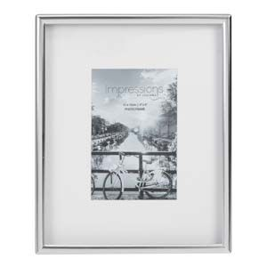 "WIDDOP Impressions Silver Plated Matt Silver Photo Frame 4"" x 6""  FS103946"