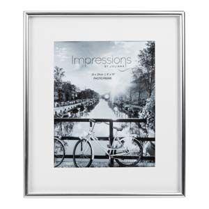 "WIDDOP Impressions Silver Plated Matt Silver Photo Frame 8"" x 10""  FS103980"