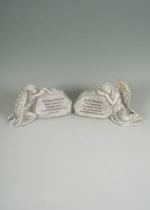 Fischhoff 31cm Angel memorial stone DF16896