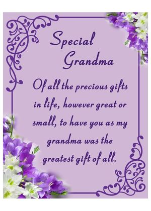 Fischhoff Special Grandma Card with holder DF15153