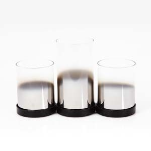 WIDDOP Hestia Set of 3 Glass Candle Holders  HE1075