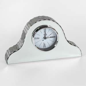 WIDDOP Hestia Glass Mirror Napoleon Mantel Clock  HE887