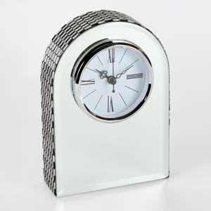 WIDDOP Hestia Glass Mirror Arched Mantel Clock  HE888