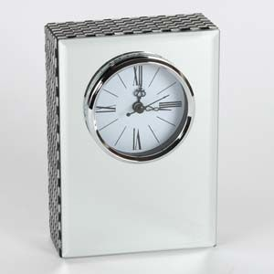 WIDDOP Hestia Glass Mirror Rectangle Mantel Clock  HE889