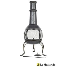 Leon Medium Steel Chimenea W-Grill - 56061B