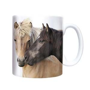 "Otter House Ltd Chunky Mug - Horses ""Close Companions"" Ref: 72041"