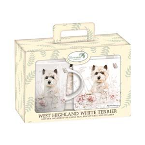 Otter House Ltd Teatime Gift Set - West Highland White Terrier Ref: 72939