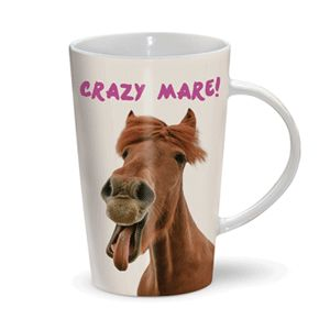 "Otter House Ltd Latte Mug - Horse ""Crazy Mare"" Ref: 72957"