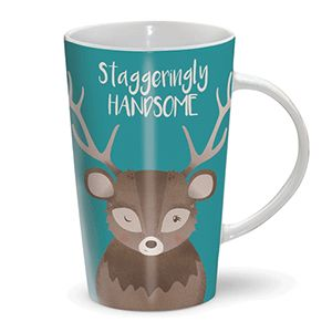 Otter House Ltd Latte Mug - Staggeringly Handsome Ref: 72951