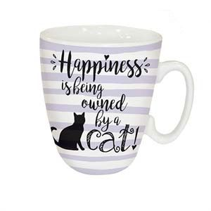 Otter House Ltd Standard Mug - Happiness Is Cat Ref: 73951