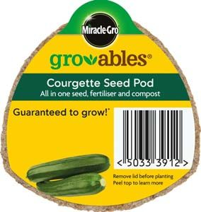 SCOTTS Miracle-Gro Gro-ables Courgette Seed Pod