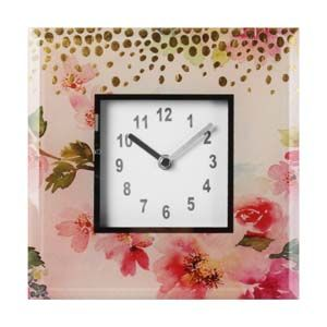 WIDDOP Vintage Boutique Glass Mantel Clock  SP1420CK