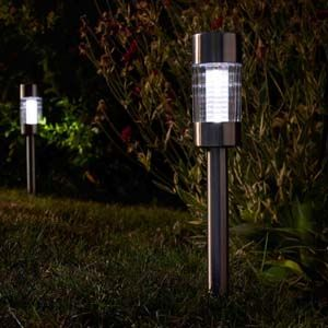 Smart Garden Flare Stainless Steel Stake Light, Carry Pack 5pcs - 1010941