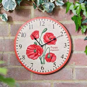 "Smart Garden Poppy Wall Clock 12"" - 5160003"