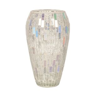 Straits Trading Co- Silver Mosaic Vase 25cm Ref: 22018