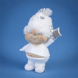 Triflora Cute Resin Snowgirl Ornament DX04599