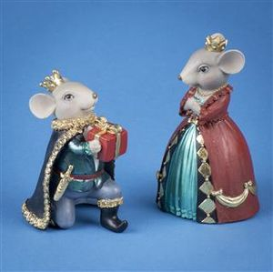Triflora Tradional Regal Resin Mouse 2 asst DX04509