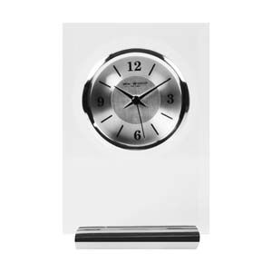 WIDDOP Glass & Aluminium Rectangle Mantel Clock  W2677